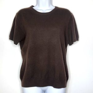 Norman Marcus Short Sleeve Cashmere Top XL